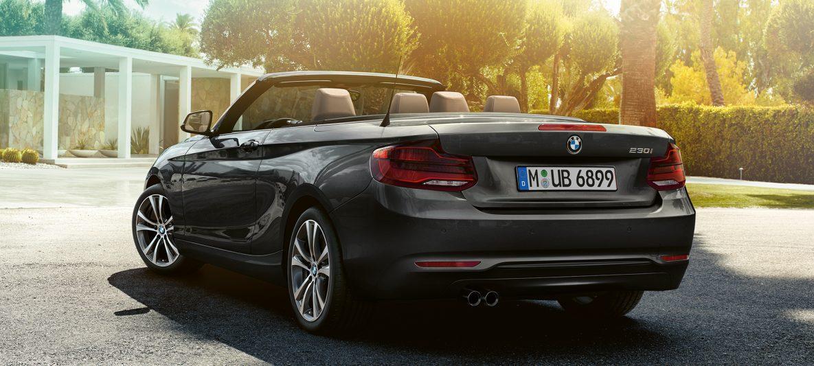 BMW 2er Cabrio, Dreiviertel Heckschuss