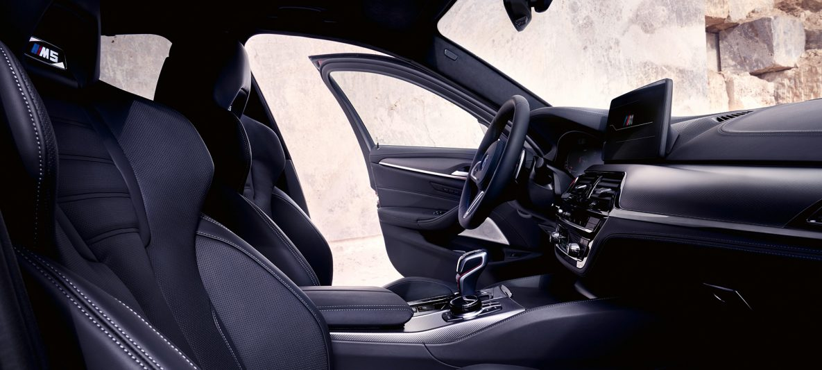 BMW M5 Competition F90 LCI Facelift 2020 Innenraum mit M Multifunktionssitzen