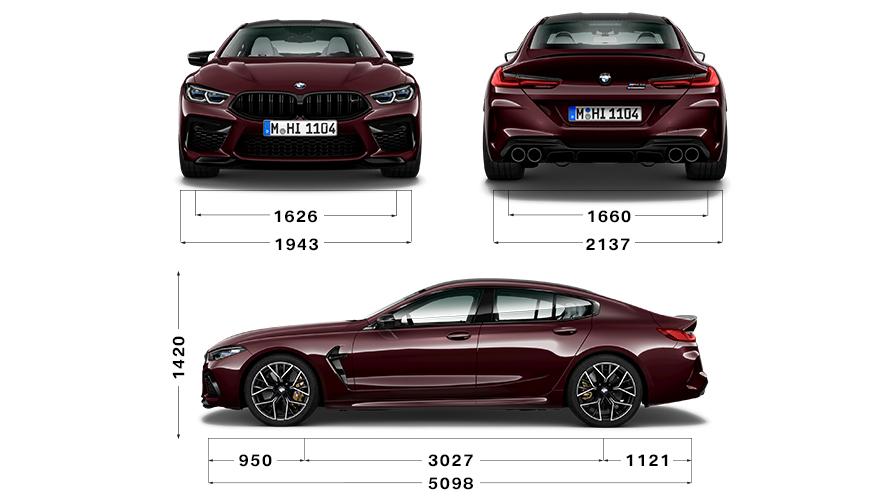 Technische Daten BMW 8er Gran Coupé M