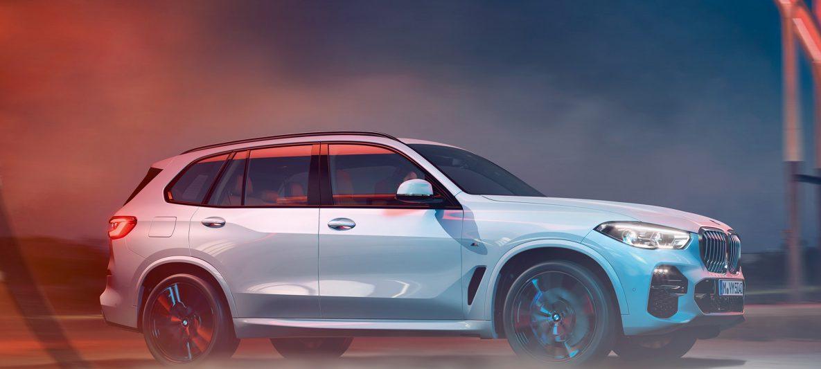 BMW X5 G05 2018 Mineralweiß metallic Seitenansicht