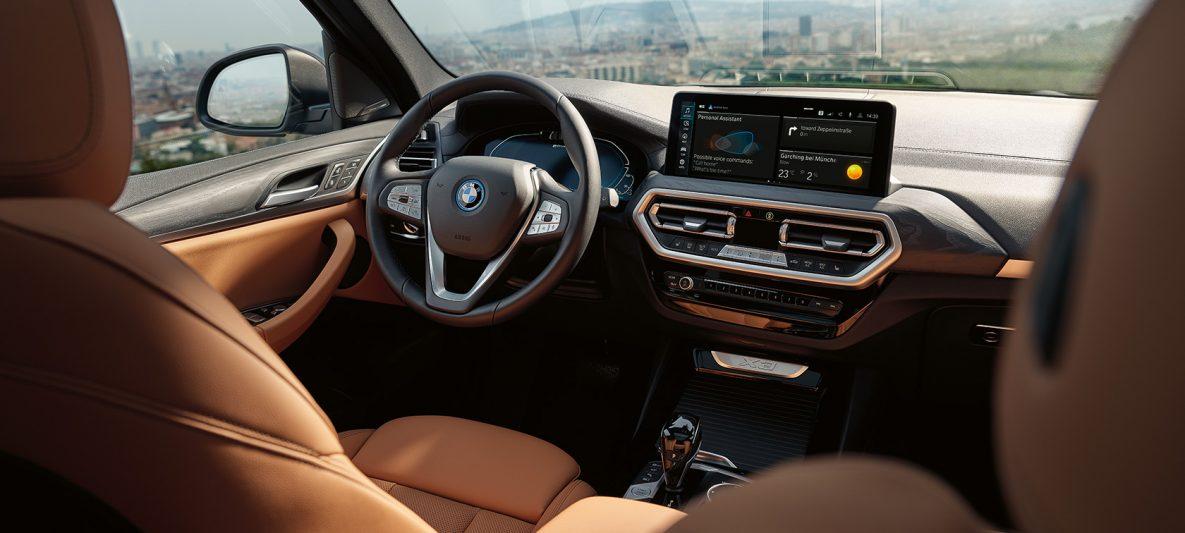 BMW X3 G01 Design-Highlights Polsterung Sensatec Cognac 2021