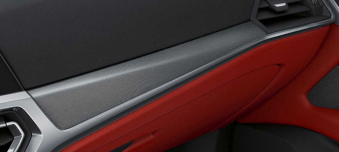 BMW Individual Interieurleisten Aluminiumgewebe hochglänzend BMW 4er Gran Coupé G26 2021 Innenraum