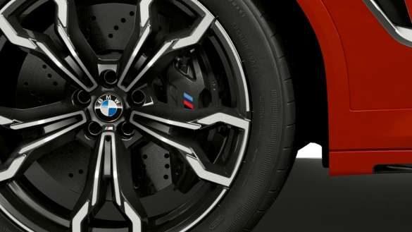 BMW X4 M Competition F98 LCI Facelift 2021 M Compound-Bremse in Schwarz Nahaufnahme