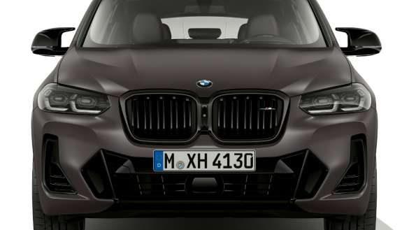 BMW X4 M40i M40d G02 LCI 2021 Facelift M40i und M40d Frozen deep Grey spezifische Designelemente Frontansicht