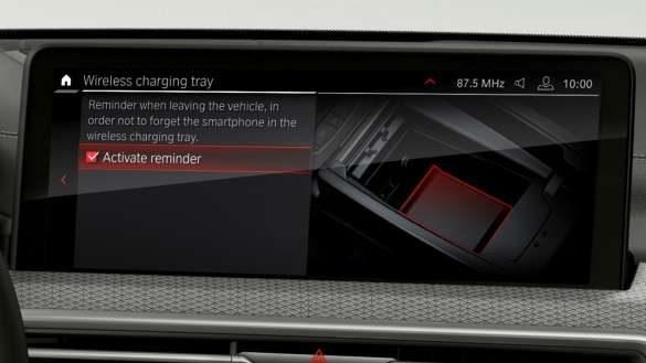 BMW X4 M Automobile F98 G02 LCI 2021 Facelift Telefonie mit Wireless Charging